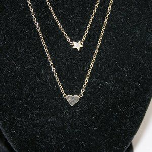 Love Is Real Couture Jewelry - Star & Heart Multi Chain Necklace